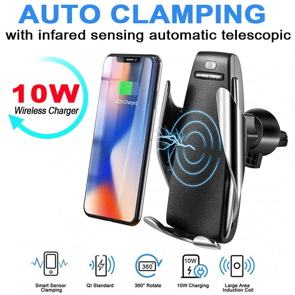 HF-WCHA: Smart Automatic clamping Wireless Car Charger Air Vent Mount Holder