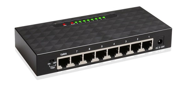 NET-SW8-1000: High Performance Ethernet Smart Switch 8 Ports 10/100/1000Mbps Gigabit Ethernet Network Switch Lan Hub
