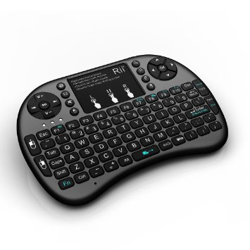 i8+: Rii Wireless Mini Keyboard Mouse w/backlite Touchpad for PC Smart TV