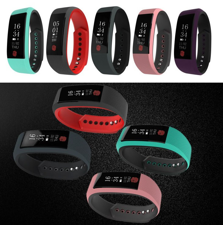 SWB801: Smart Wristband Bluetooth Heart Rate Monitor Waterproof Smart Sport Bracelet Watch